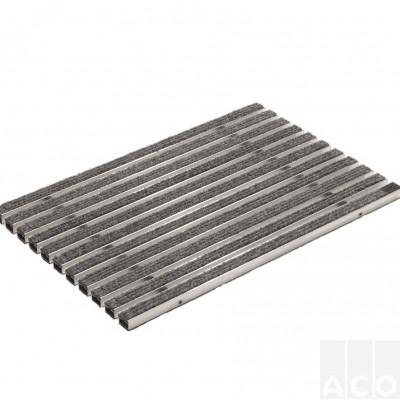 """Решітка алюмінієва з войлочним покр. 100х50 VARIO (колір """"світло-сірий"""")"""