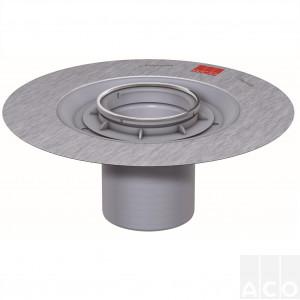 Верхня частина трапа D136мм пластикова, з фланцем для круглої решітки