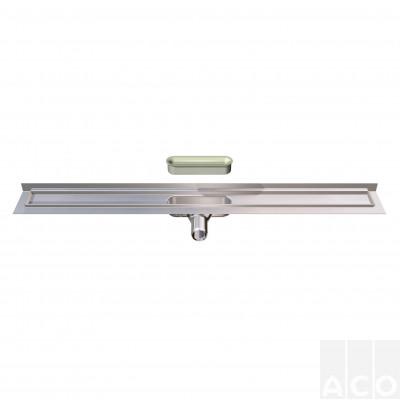 Душовий канал 785мм ACO ShowerDrain C, з верт. фланцем, низький сифон, AISI 304 Н=65мм