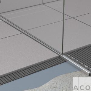 Вирівнюючий елемент ShowerStep L=1490мм, Н1=10мм, Н2=36мм лівий AISI 304